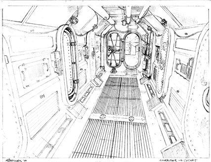 Firefly Corridor Concept Art