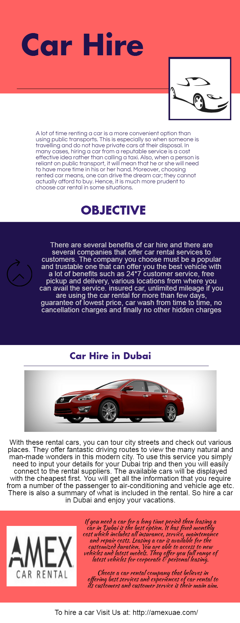 Amex rent a car strives to provide car rental, car lease