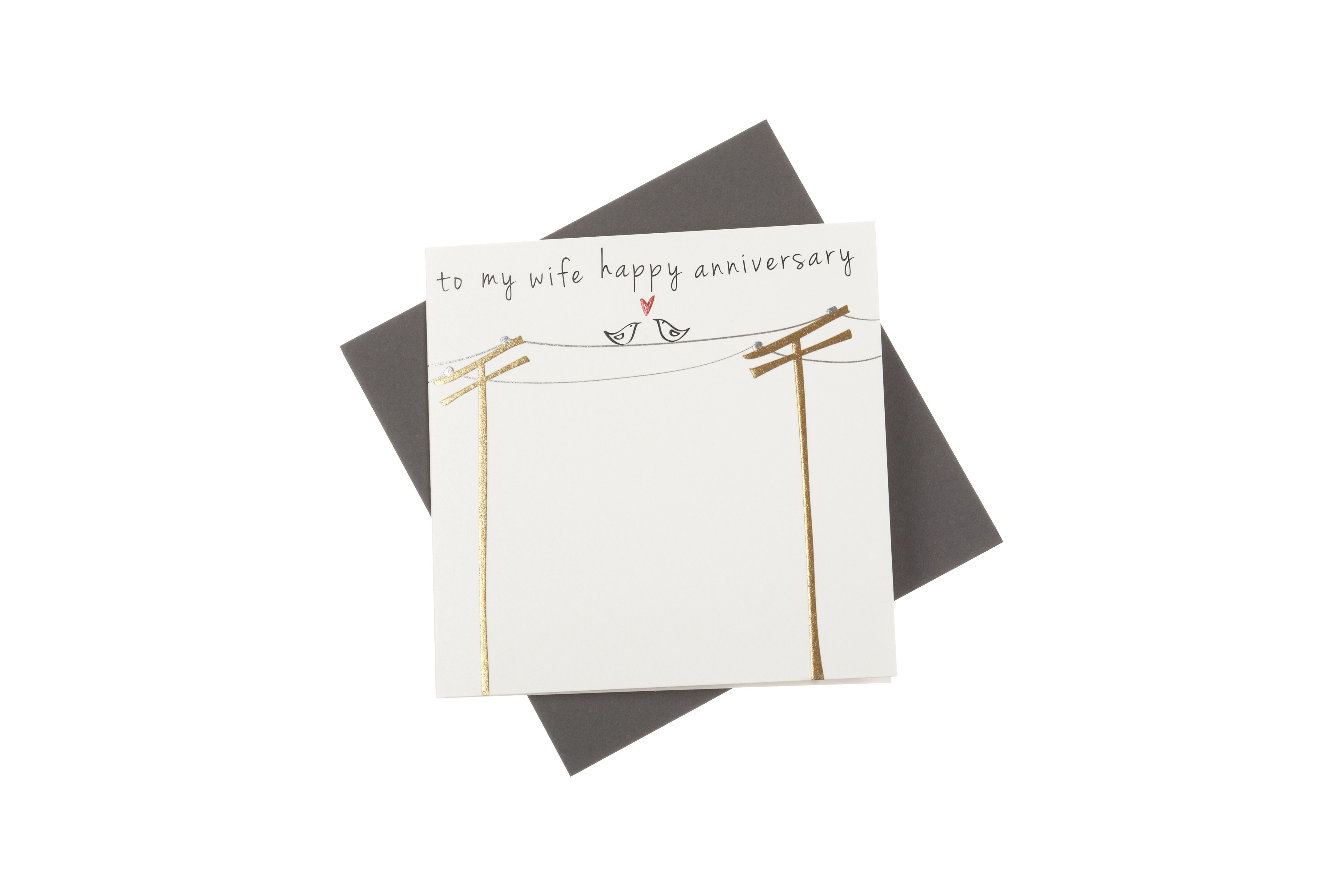 A Beautiful Greeting Card For Your Wife To Celebrate Your