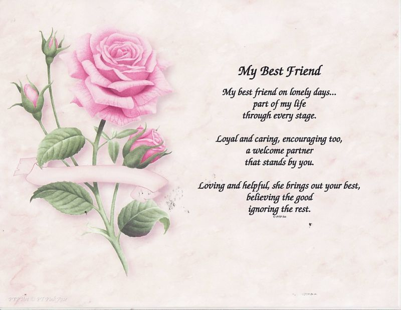Best Friend Poems | MY BEST FRIEND POEM PERSONALIZED NAME ...