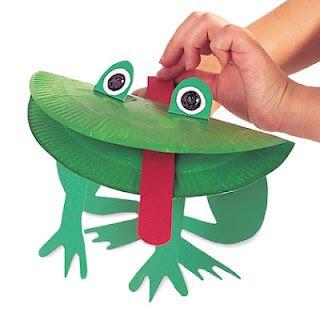 Paper Plate Frog  sc 1 st  Pinterest & Paper Plate Frog   Craft Ideas   Pinterest   Frogs Craft and Paper ...