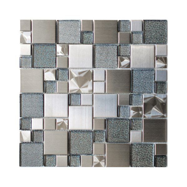 Eden Mosaic Tile EMT_501 MIX BM 11 Pack Modern Cobble Stainless Steel With
