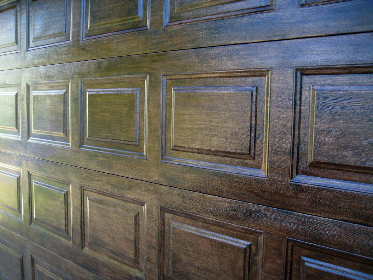 I\'ve always loved the look of rustic wood doors, stained dark with ...