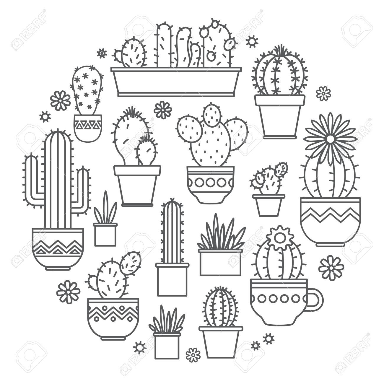 cactus drawing Google Search Journal doodles, Bullet