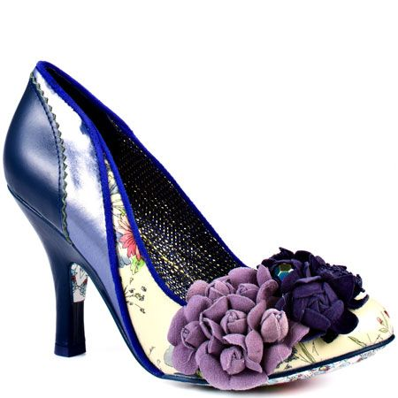 Purple wedding shoes are purple