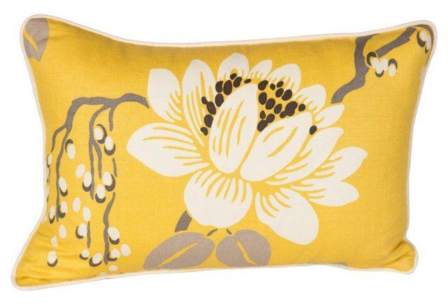 Yellow Lotus Pillow
