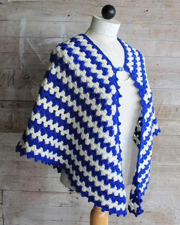 Vintage Granny Rows Capelet Crochet Pattern   Scarfs and Shawls ...