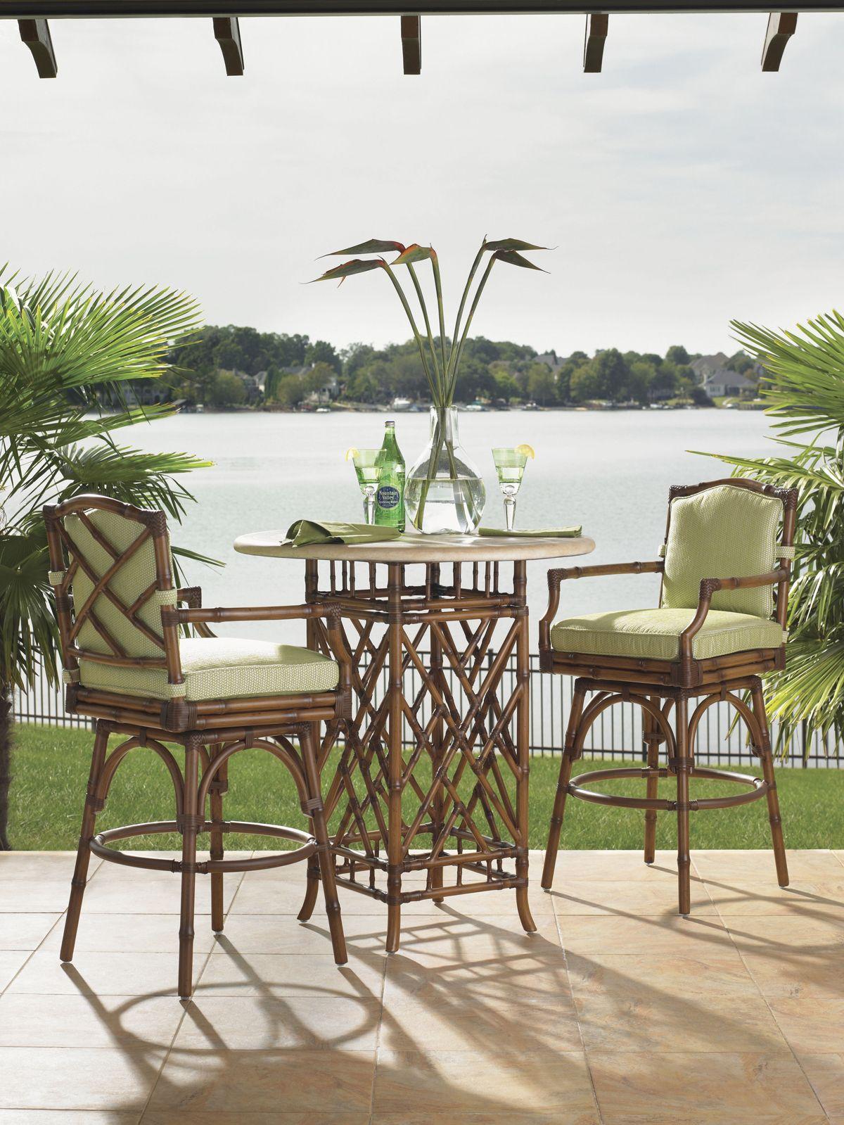 Tropical bistro set for beach house patio tommybahamafurniture
