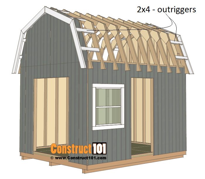 10x12 Barn Shed Plans Barns Sheds Shed Plans Building A