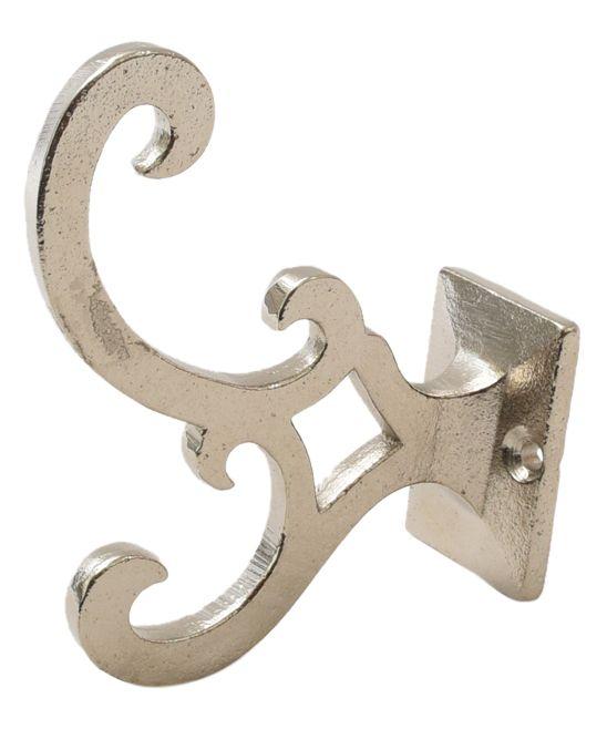 Nickeltone Metal Scroll Wall Hook