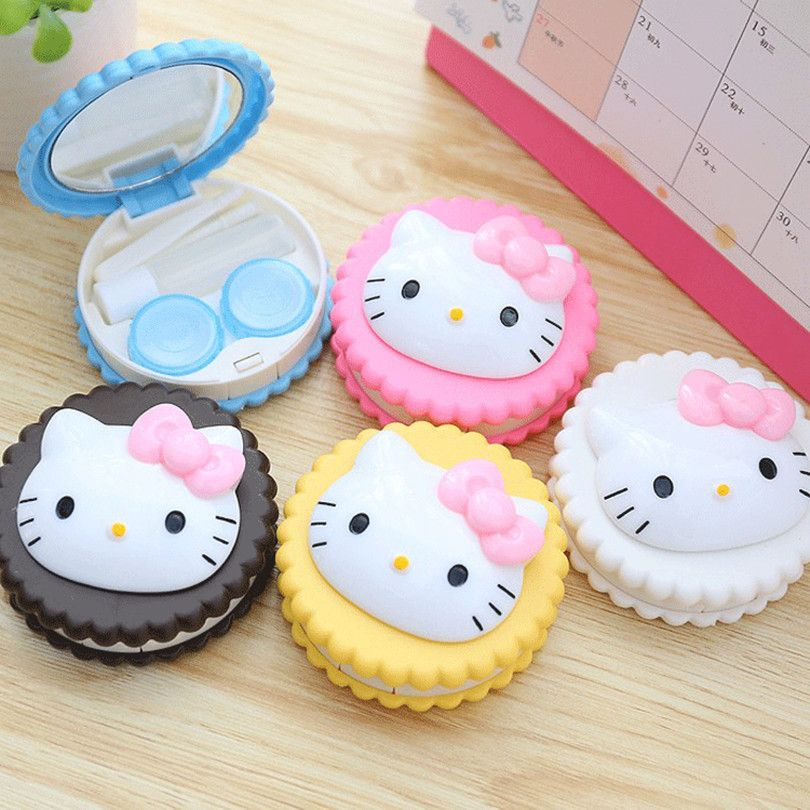 Hello Kitty Travel Contact Lenses Box //Price: $6.99 & FREE Shipping // World of Hello Kitty http://worldofhellokitty.com/cute-hello-kitty-cat-biscuit-shape-travel-contact-lenses-box-contact-lens-case-storage-box-for-eyes-care-kit-holder-container/    #hellokitty