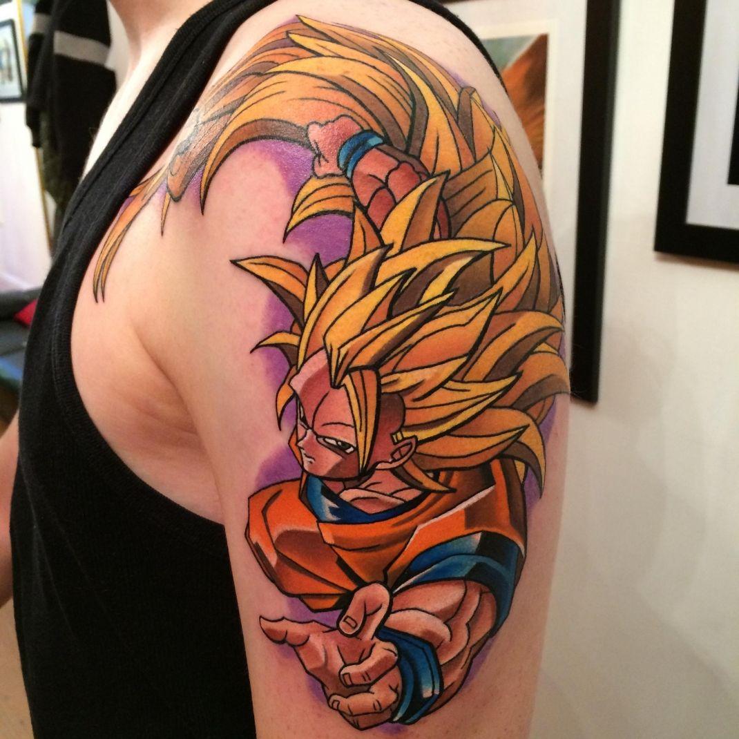 Dragonball Z Super Saiyan Goku Tattoo