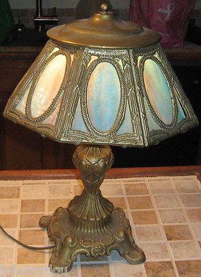 Pin On Slag Glass Lamps