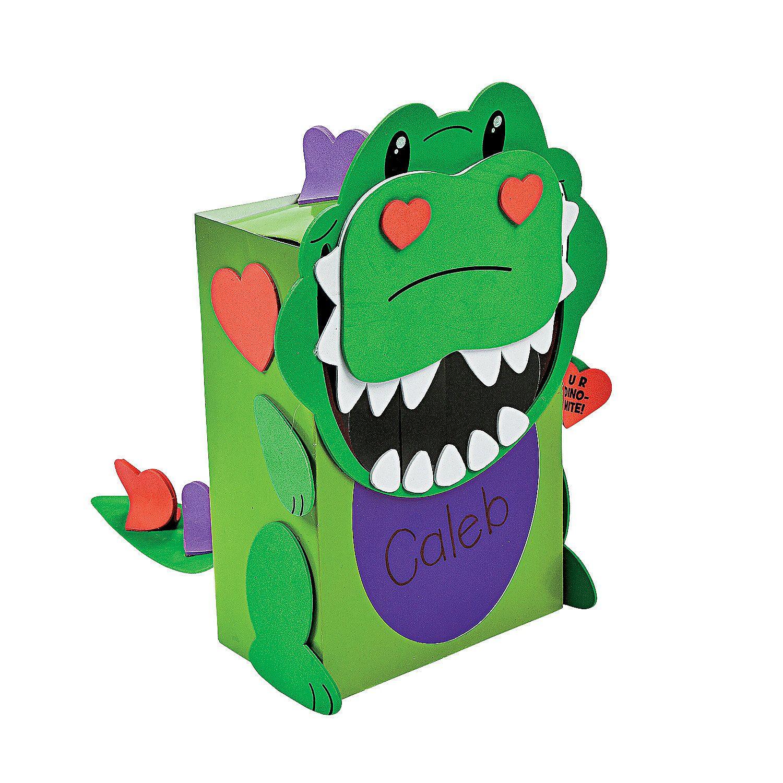 Dino Valentine Card Holder Craft Kit  OrientalTradingcom  LOVE