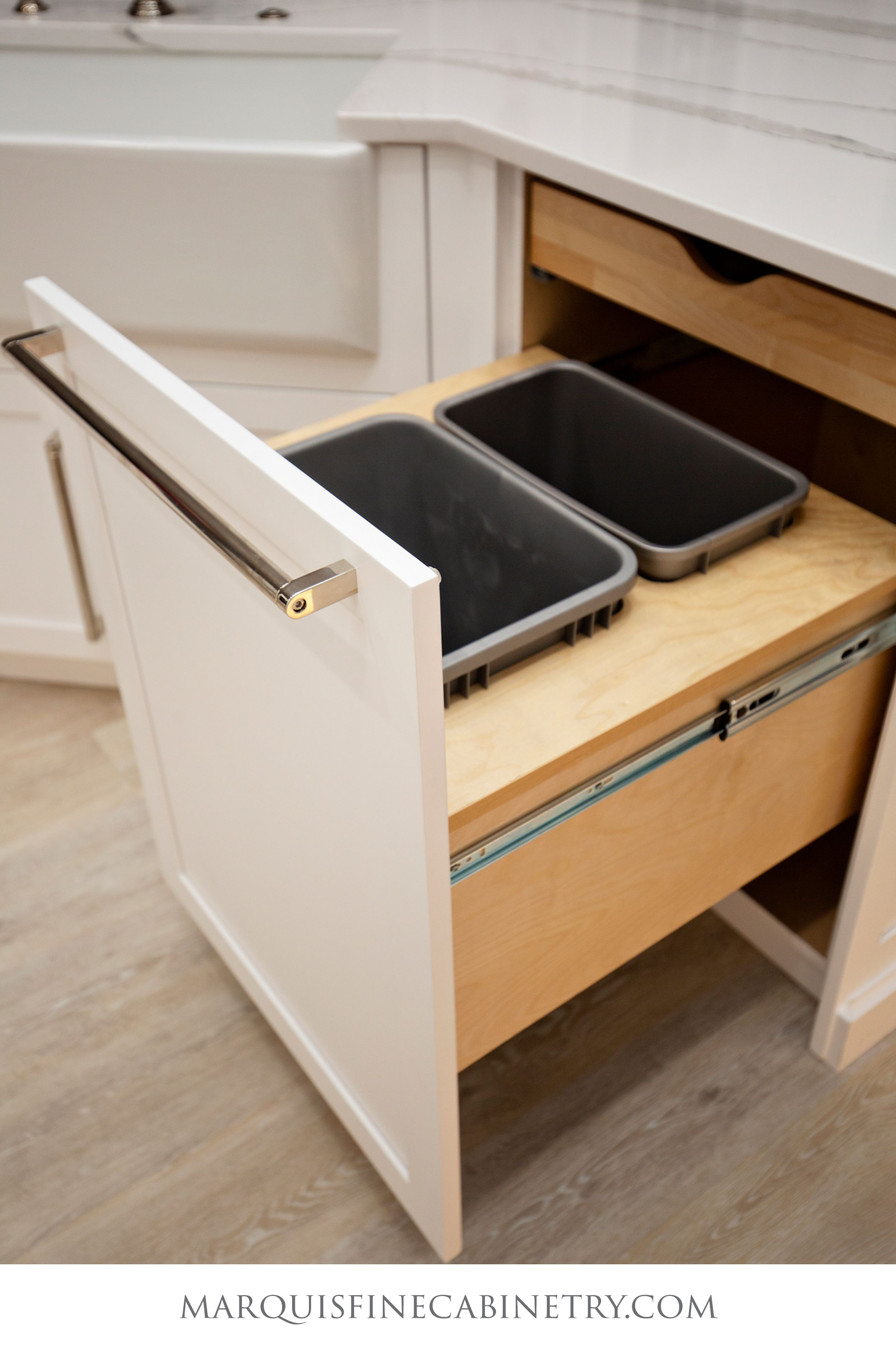 Classico M1236 Trash Bay Pull Out In 2021 New Kitchen Inspiration Cabinetry Design Kitchen Design