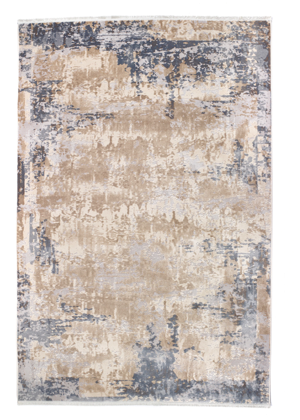 Etched Fringe Rug Small Grey In