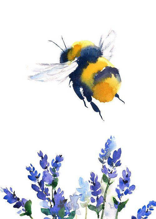 Bumblebee Greeting Card for Sale by Maria Stezhko
