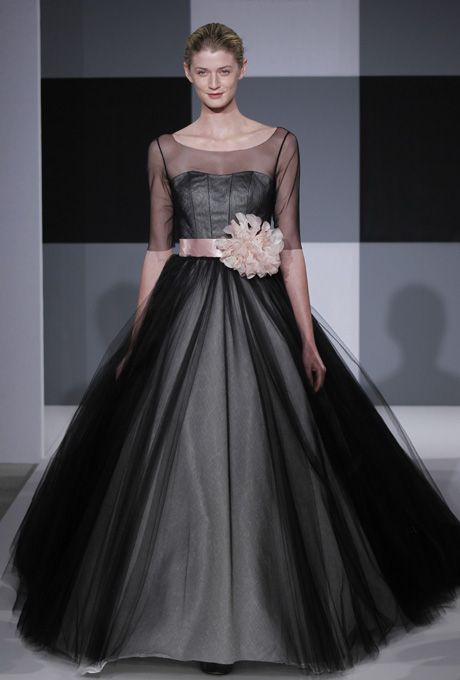 Isaac Mizrahi for Kleinfeld - Spring 2013 - Black Tulle Ball Gown ...