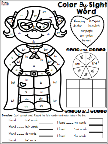 the best of teacher entrepreneurs language arts color by sight - Language Arts Coloring Pages