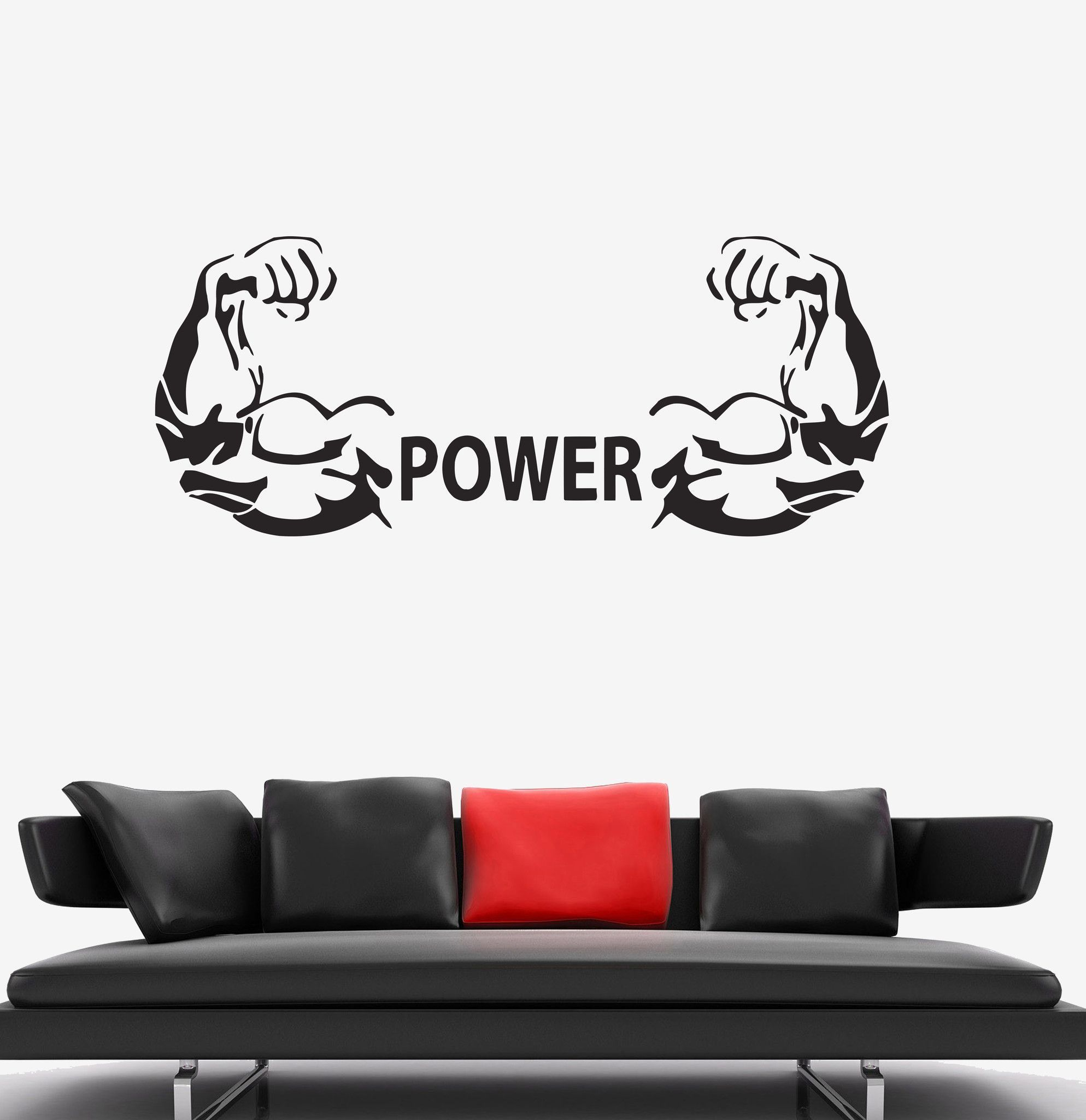 Wonderful Vinyl Wall Decal Bodybuilding Hands Fitness Gym Iron Sport Stickers (023ig) Part 5