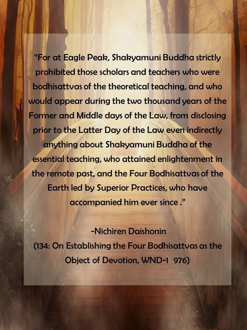 #Gosho 134: On Establishing the Four Bodhisattvas as the Object of Devotion, WND-1 976