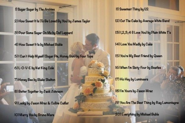Wedding music list top 20 cake cutting songs of 2013 what we do wedding music list top 20 cake cutting songs of 2013 solutioingenieria Choice Image