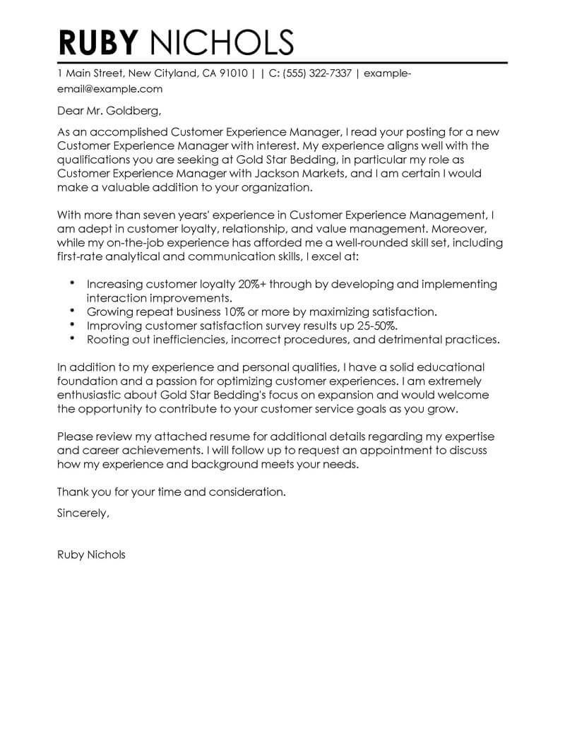 23+ Cover Letter For Customer Service | Cover Letter Resume ...