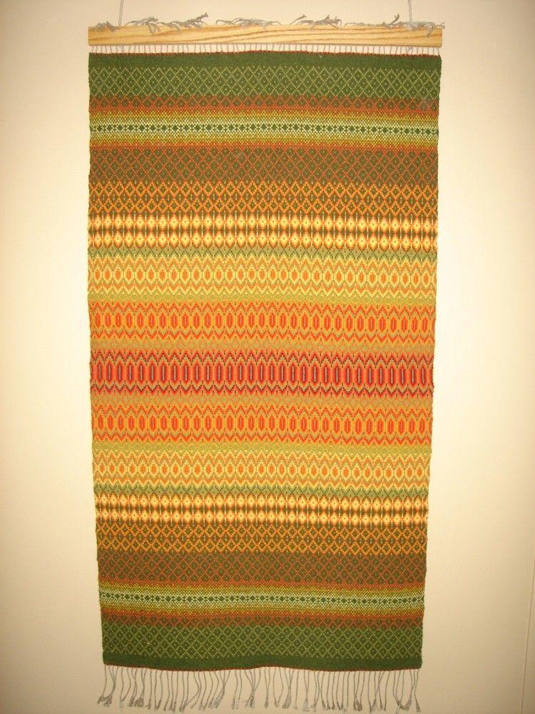 Wool Handwoven Rosepath Rug in Fall Colors. $500.00, via Etsy.