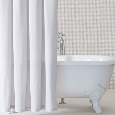 Metallic Striped Shower Curtain