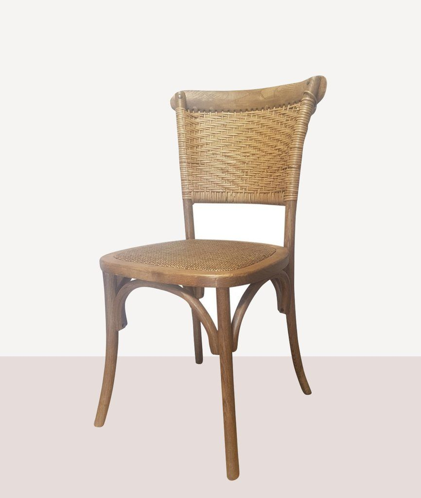 Rattan Weave Dining Chair Antique Oak Woven Dining Chairs