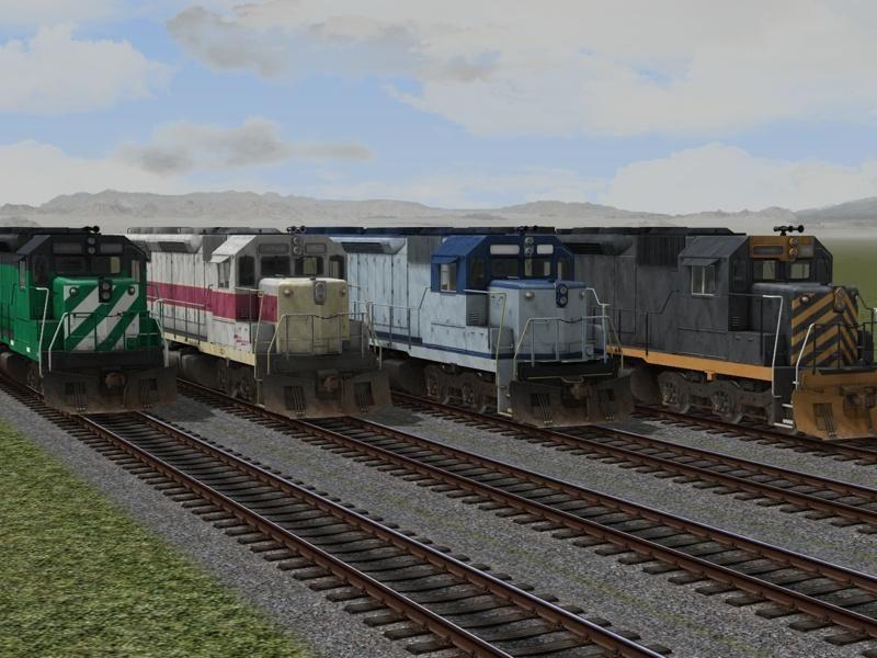Sechsachsige dieselelektrische Lokomotiven EMD SD45