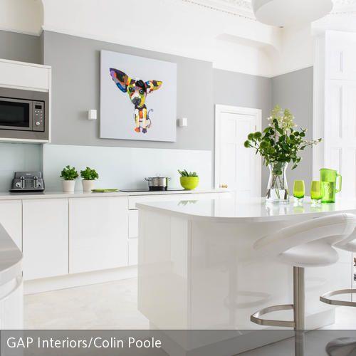 Eine Küche mit einem Leinwandbilder gestalten | Blickfang, einfache ...