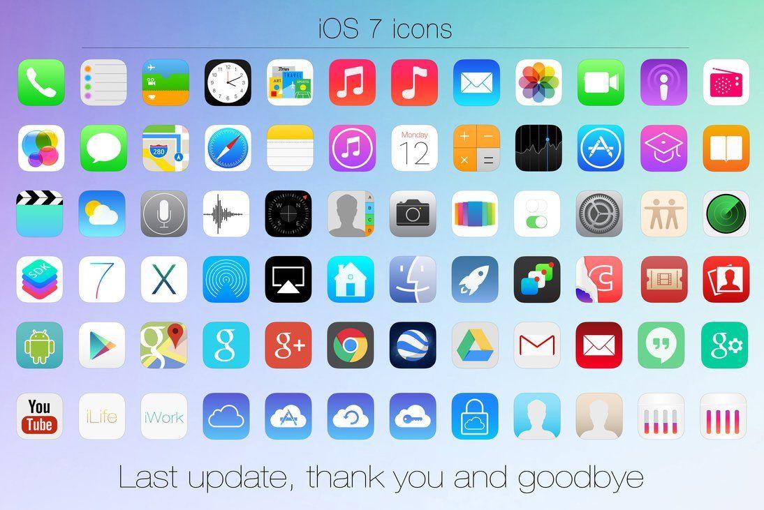 Desktop iOS 7 icons