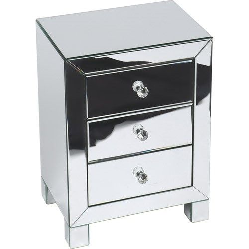 Avenue Six Modern Mirrored Accent Table Jet