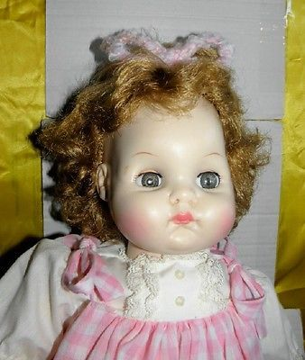 """Vintage Madame Alexander 20"""" Pussy Cat Baby Doll 1965  VGC"""
