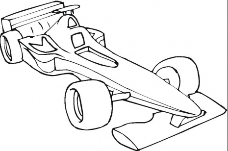 Formula One Car Coloring Page Raskraski Shezlong