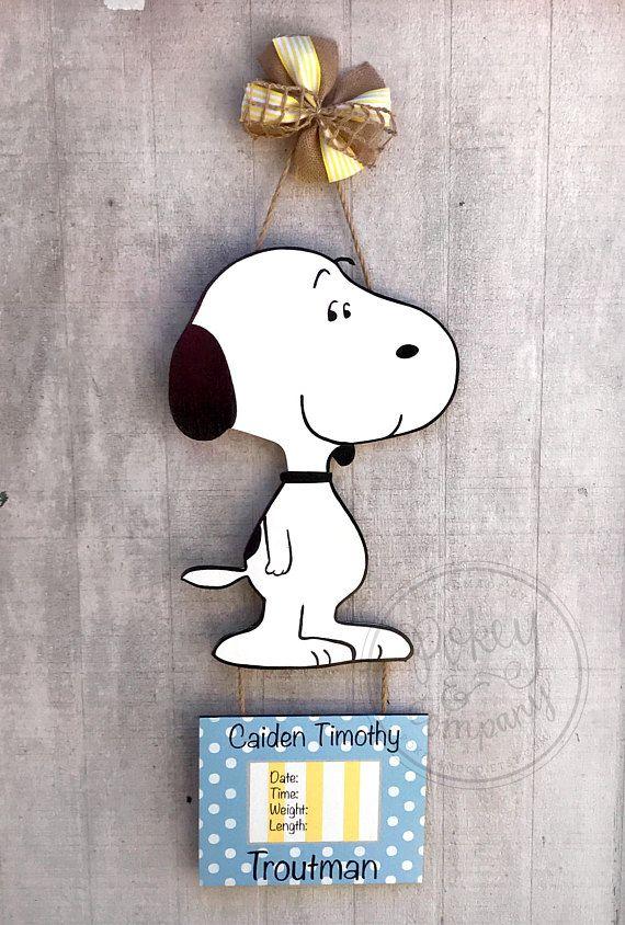 Snoopy Hospital Door Hanger