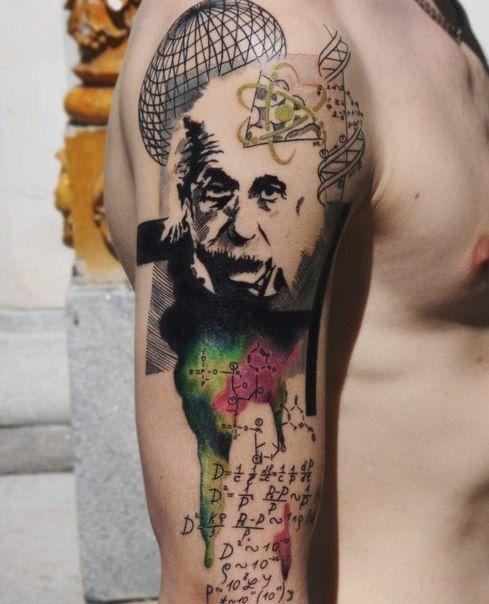 Albert Einstein Tattoo Tattoos Physics Tattoos Nerdy