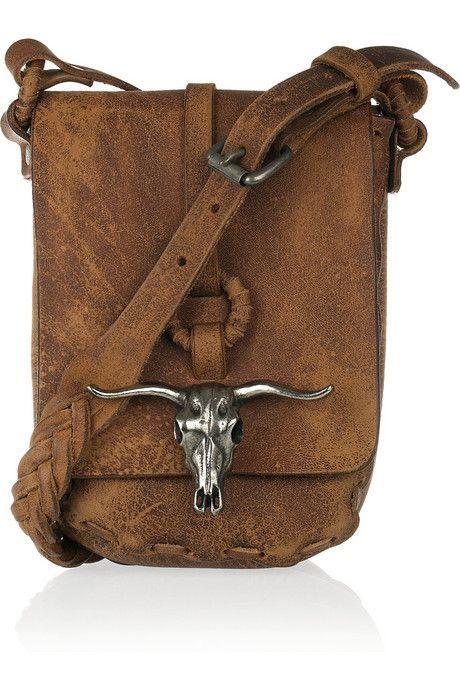 Ralph Lauren reinventa el lejano oeste con un nuevo bolso bandolera de  cuero natural. ee37d3c8554