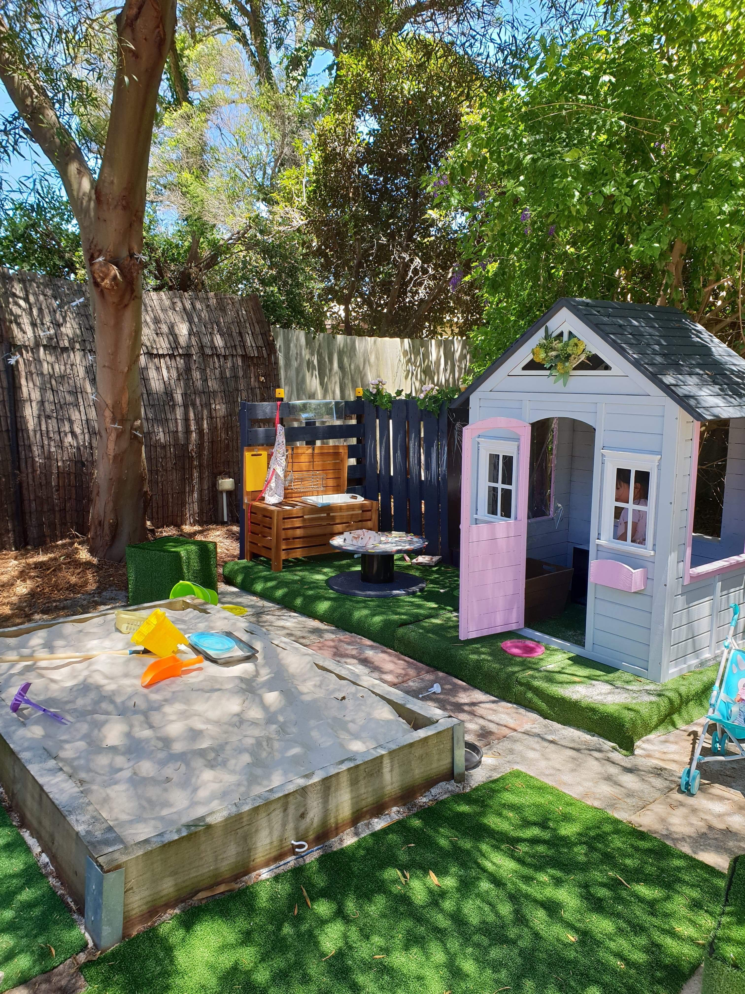 Cubby House And Sandpit For My 2 Years Old Kmart Cubby