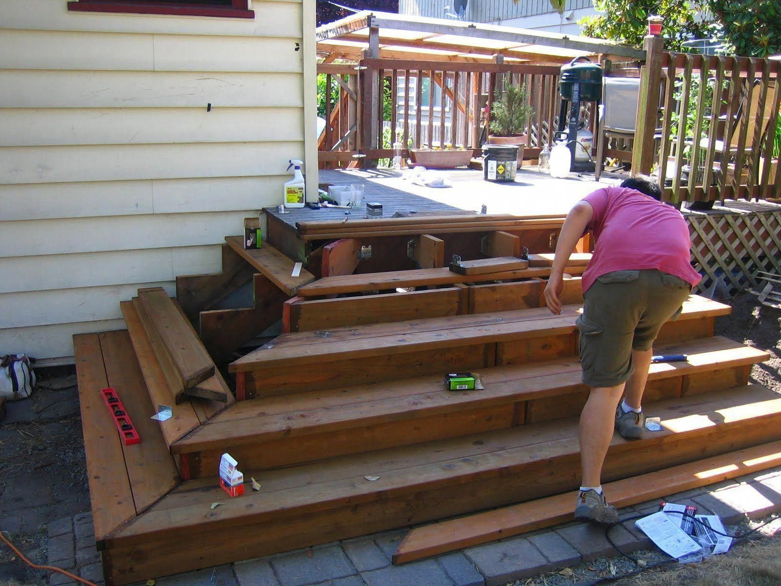 How To Build Deck Stairs Curved Deck Stairs Professional Deck Builder Magazine Patio Steps Building A Deck Patio