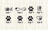 Photo of Love Paw Animal Car Sticker Dog Love Paw Word Sticker Paw Infinite … 26 Photos