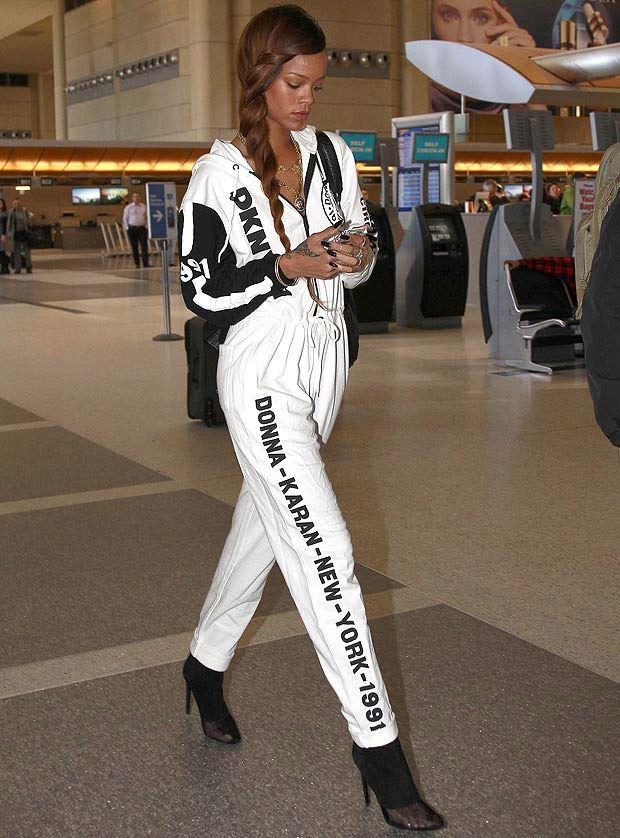 Rihanna at LAX airport