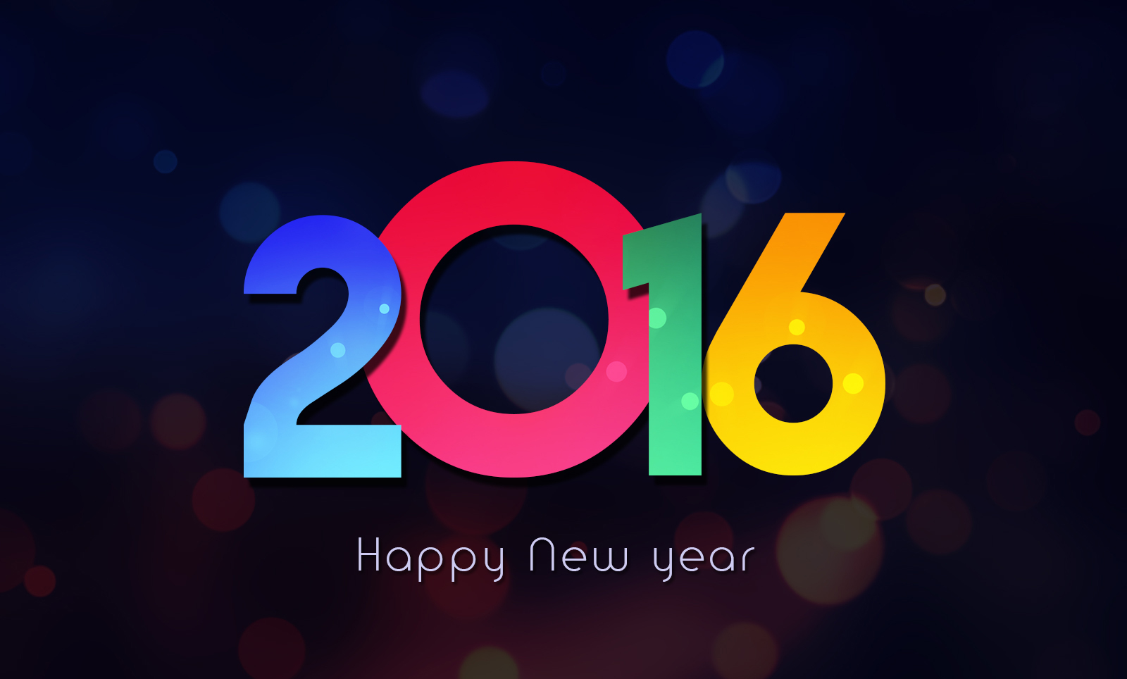 3d New Year 2016 Wallpaper Black Colorful Hd Greeting Happy New