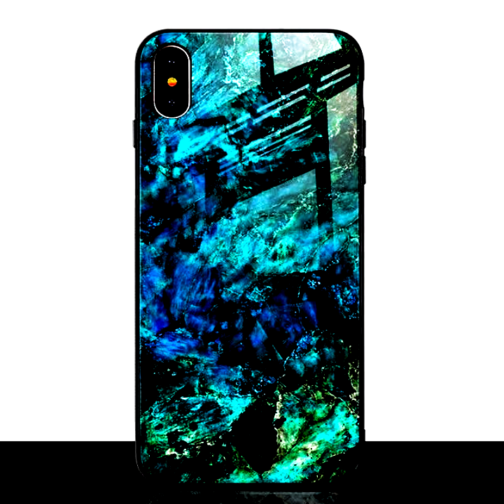 Cool Marble Phone Case for iPhone X Xs Max XR For Men