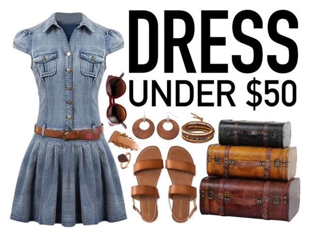 """""""Dress Under $50!"""" by rndmchick ❤ liked on Polyvore featuring Aéropostale, Chan Luu, H.AZEEM, contestentry, fashionset and Dressunder50"""