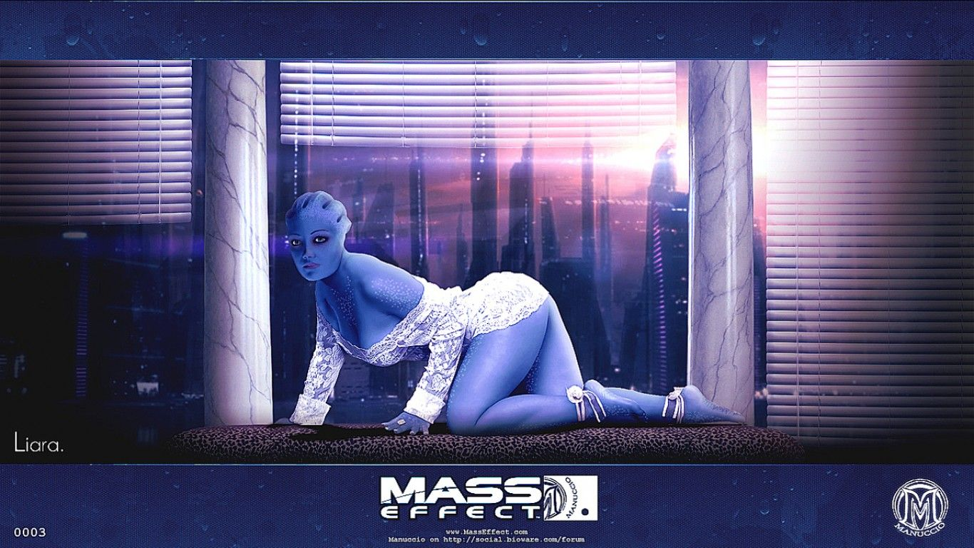 Liara T Soni Mass Effect Wallpaper Walldevil Mass Effect