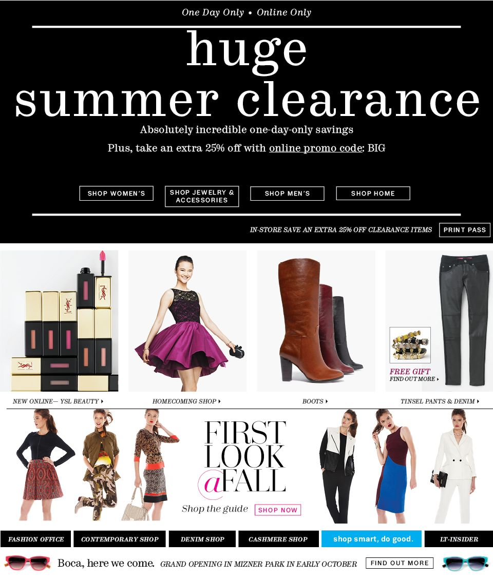 to Lord and Taylor Womens fashion shopping