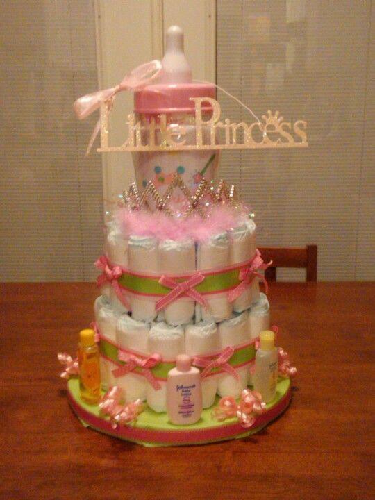 My first diaper cake!