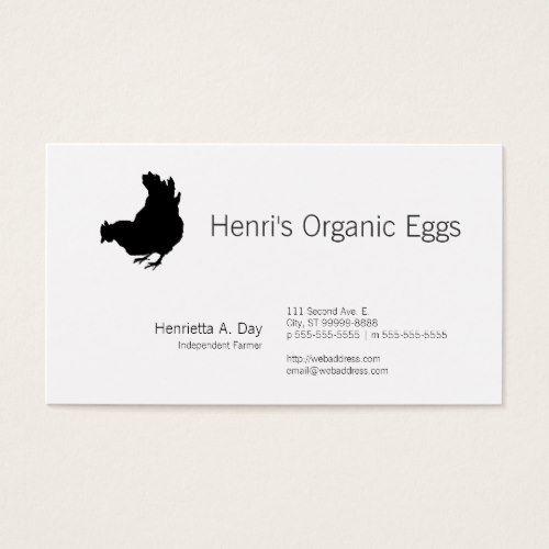 Hen Chicken Farmer Organic Eggs Business Card Zazzle Com In 2021 Organic Eggs Hen Chicken Farmer